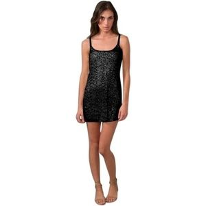 Free People Sequin Slip Dress
